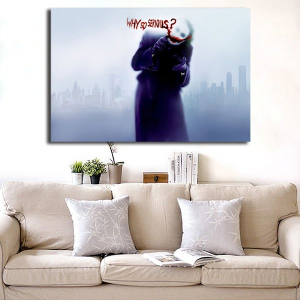 Dark Knight Why So Serious Comics Marvel Film Art Canvas Poster Painting Wall Picture Print For Home Bedroom Decoration