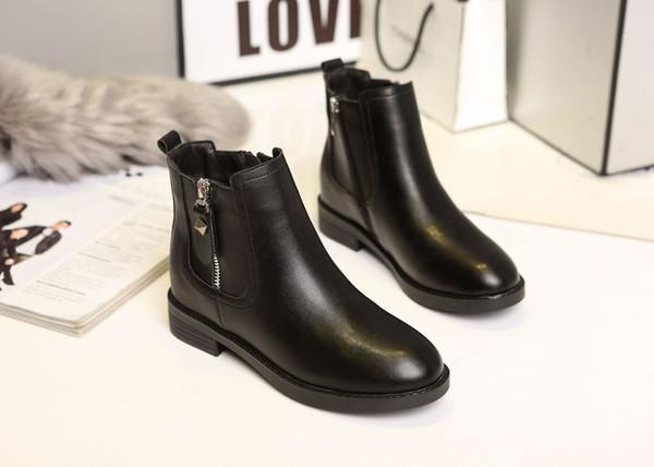 2019 nuevas botas Martin de estilo británico tobillo de moda casual europeo para mujer