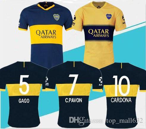 Maglia da calcio Boca Juniors TOP Thailandia 2019 2020 casa maglia da calcio trasferta 19/20 GAGO CARLITOS TEVEZ Boca Juniors camisetas de futbol