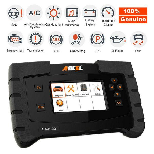 Moteur de diagnostic diagnostique de scanner de voiture d'ANCEL OBD2 codant l'outil de système complet d'ABS EPB ESP de SRS