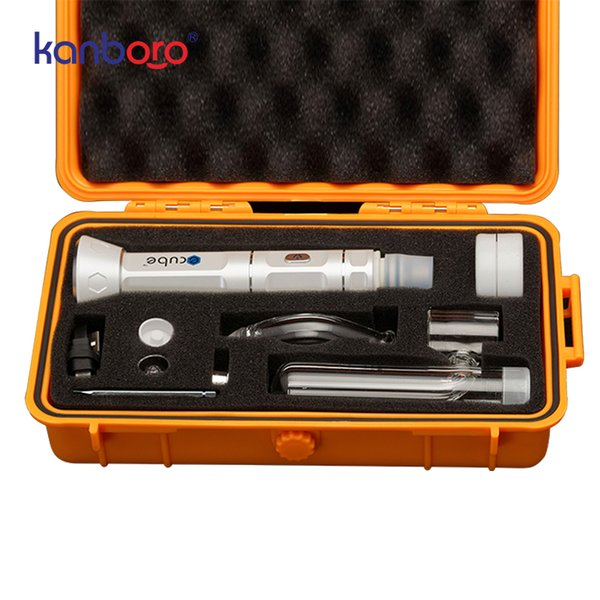 new dab wax rig device high quality dry herb vaporizer portable wax dab rig pen from Kanboro ecube kit in stock