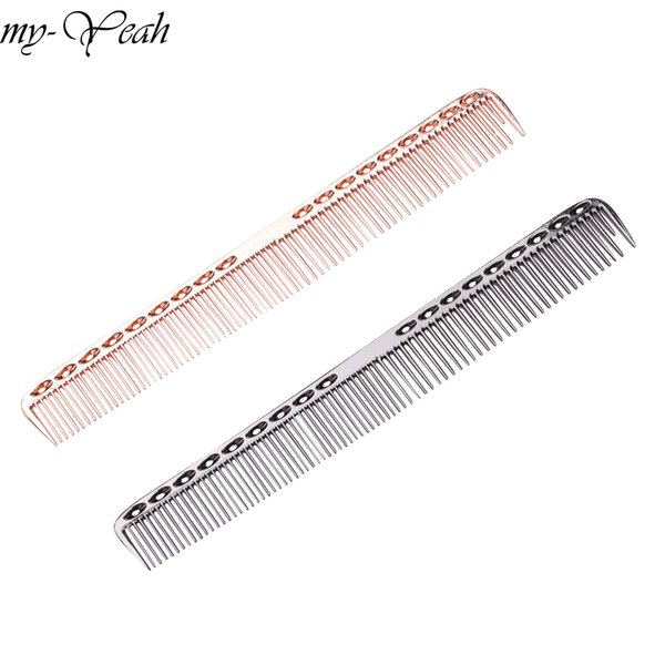 salon Professional Stainless Steel Comb Detangle dressing Brush Anti-static Hair Loss Comb Salon Hair Care Styling Tool