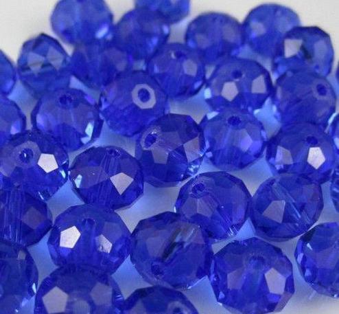 500pcs/LOT Royal Blue 4 SIZES #5040 RONDELLE Wheel glass crystal beads DIY JEWELRY MAKING