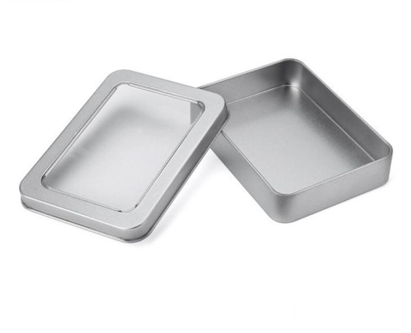 10.7*7*3cm Open Window Metal Storage Cases, Tin Boxes Steel display packaging can