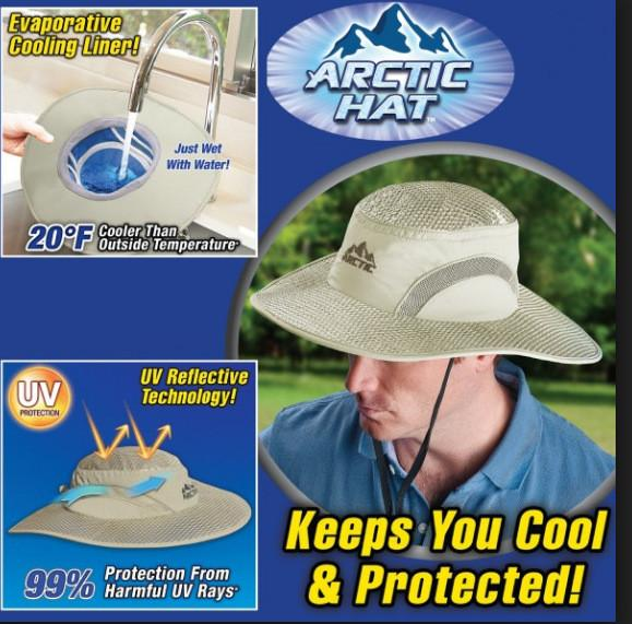 Arctic Cap Cooling Ice Cap Sunscreen Hydro Cooling Bucket Hat Arctic Wide Brim Hat with UV Protection Keeps you Cool MMA2123
