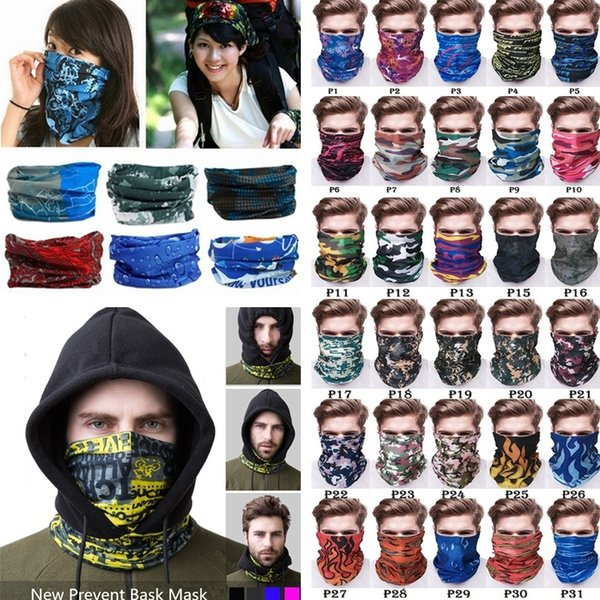 New Outdoor Bandana multi-function Head scarf seamlessly headband magic scarf scarf cycling masks skeleton sport Bandanas I495