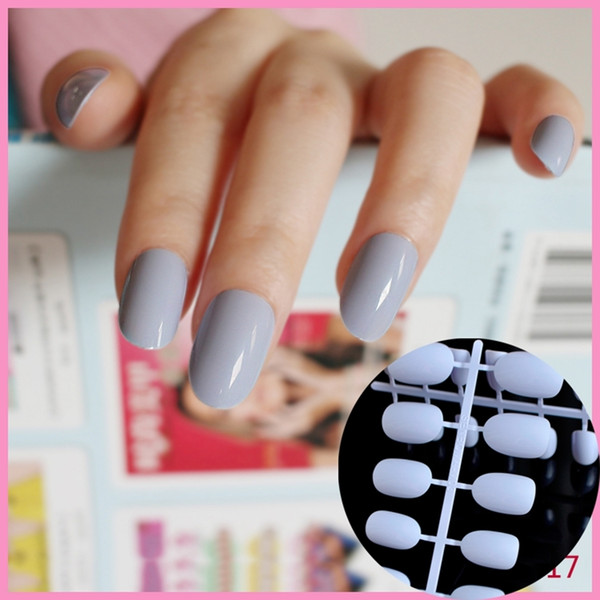30 цветов на выбор, 24 штуки овальной формы искусственные накладные ногти советы конфеты цвет средний размер серии R26