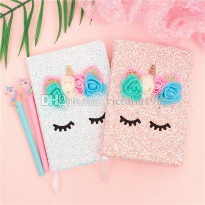 New mixed molds Kawaii Flamingo Unicorn Notebook Cute Lovely pink girl Diary Planner Memo Pad Notepad for Kids Gift Korean Stationery