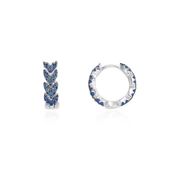APM Monaco 925 Herzförmige Ohrringe Weibliche Zarte Silber Mini-Mode Sommer 2019 Einfache Kleine Ohrknöpfe