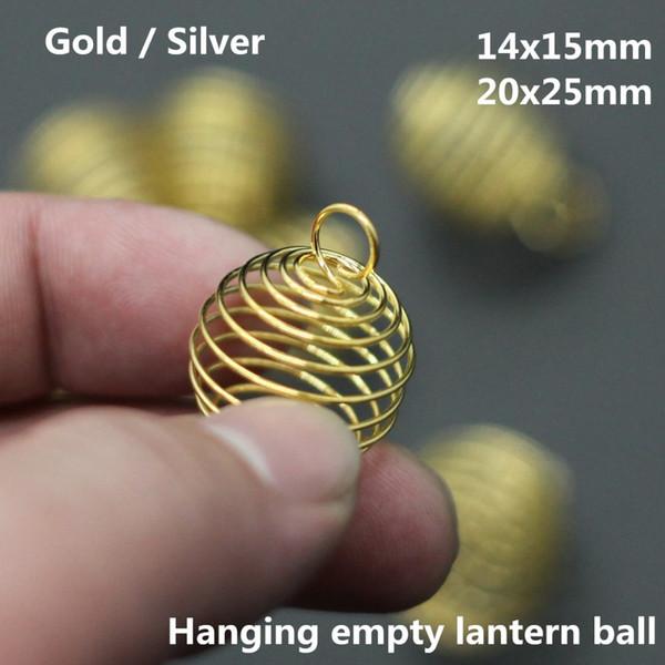 Wholesale Hanging Empty Lantern Ball Charms Bijoux For Women Handmade Necklace Bracelet Earrings Pendant Diy Jewelry Findings