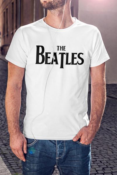 Os BEATLES Homens T-shirt Branca Rock Band John Lennon Camiseta Homens Mulheres Unisex Moda tshirt Frete Grátis preto