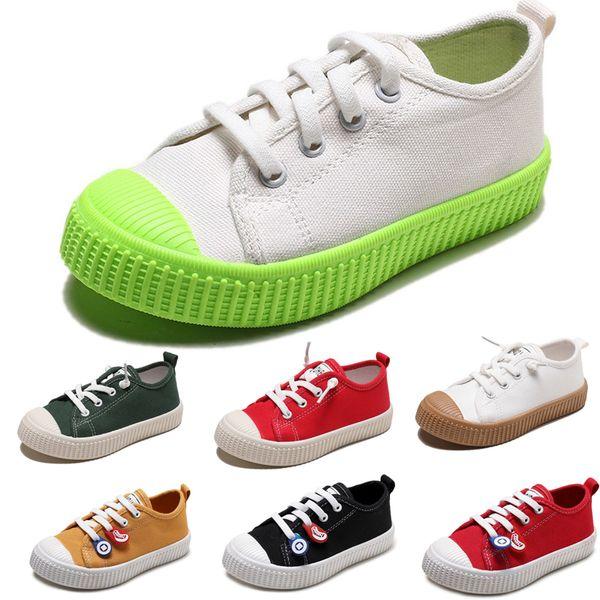 2020 Olmayan Marka Tembel Çocuk Ayakkabı oğlan kız bebek Çocuk kanvas ayakkabılar spor ayakkabı nefes bisküvi rahat ayakkabılar 20-31 Stil 1 Slip