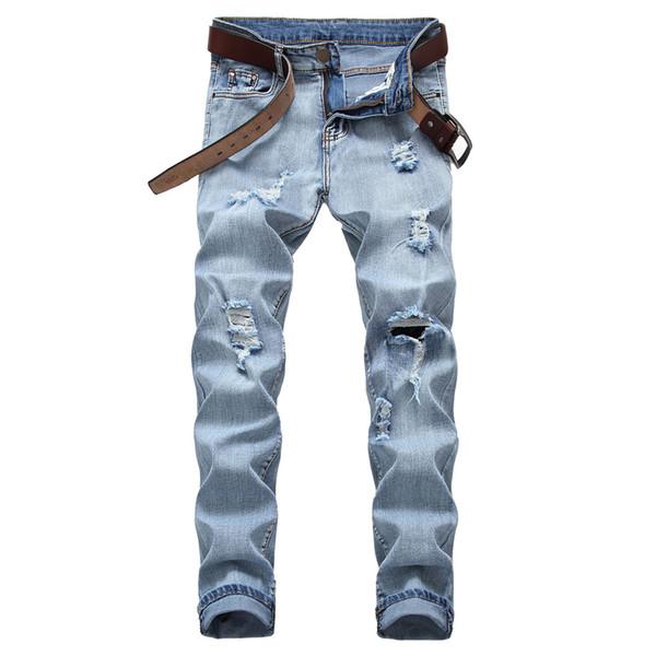 Hip Hop Men Jeans Vintage Cool Pant Casual Trousers 2019 Hollow Out Streetwear Pants Party Elegant Jeans Mens