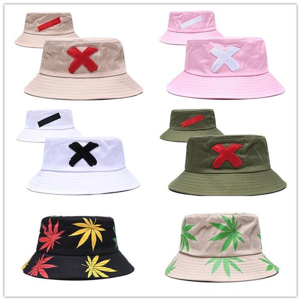 Unisex kovboy şapkaları kova şapka Katlanabilir Balıkçılık Açık Hip Hop Kap Kadınlar Yaz Düz Balıkçı Şapkaları Yaz Güneş Kremi ...