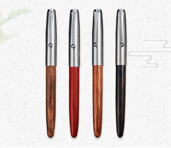 Stylo à plume classique remasterisé en bois 0.38mm extra fine stylos calligraphie plume Jinhao 51A fournitures de bureau fournitures scolaires