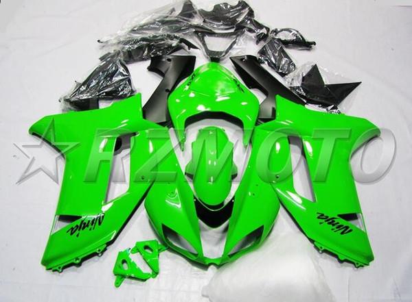 Nuevo kit de accesorios de carenado de motos para kawasaki ninja zx6r 636 2007 2008 07 08 6R 600CC carrocería verde