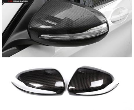 Fibra de carbono Para Mercedes Benz C w205 E W213 Classe GLC X253 S Classe w222 ABS Espelho Retrovisor Do Carro de Plástico Tampa Da Tampa Do Guarnição Para LHD