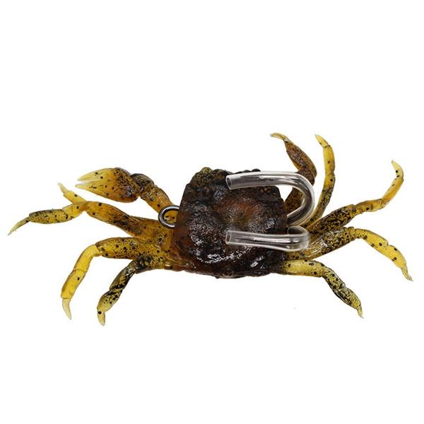 1pcs 3-color 10cm 33.4g Crab Hook Fishing Hooks Fishhooks Soft Baits & Lures Artificial Bait Pesca Fishing Tackle Accessories