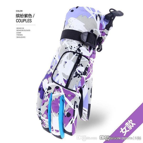 2019 winter ski glove waterproof super warm gloves ski bike snowmobile riding sports ski gloves men women north gloves face the nf tactical thumbnail