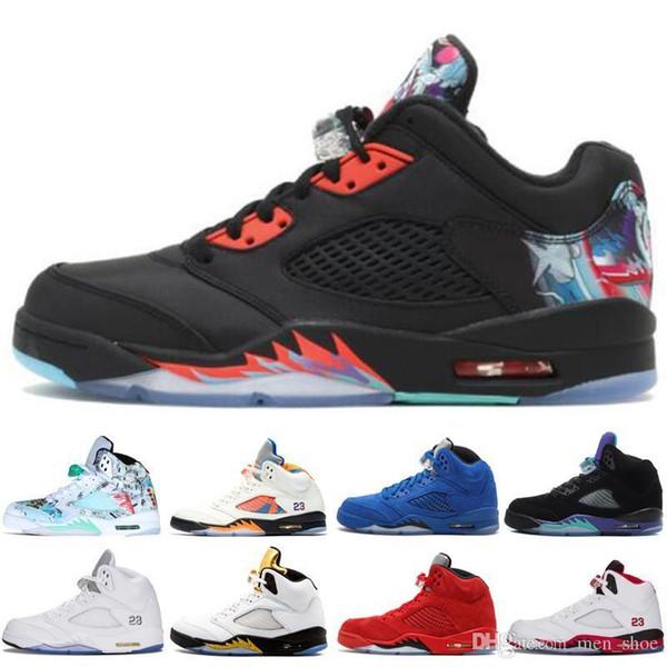 Cheap New 5 5s Wings International Flight Mens Basketball Shoes Red Blue Suede Oregon Ducks Fluorescent Green men sports sneakers designer