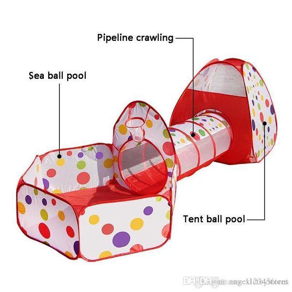 Freee Доставка Дети Play Палатка Pipeline Ползучий Огромный Tunnel игрушка Дом для детей Открытого Закрытого двора Манежей Ocean Stress Ball Pool