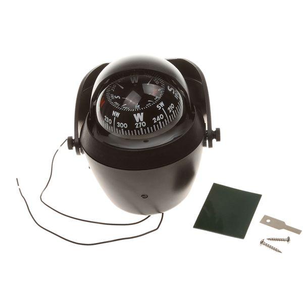 Campeggio esterno Escursionismo Auto nuova Navigazione per camion Navigazione Waterproo Bussola Universo Palla Nero 12V LED Notte con accessorio da viaggio