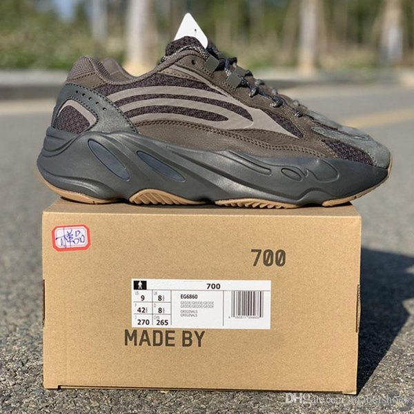 Cement 700 V2 Wave Runner Kanye West Laufschuhe 3M Designer Chocolate Glow In Dark Sportschuhe von Basf Größe 36-47