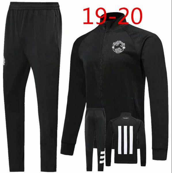 2019 2020 manchester tracksuit Survetement VESTE SET POGBA football JACKET kit Soccer Chandal LUKAKU UNITED 19/20 full ZIPPER sweater suit