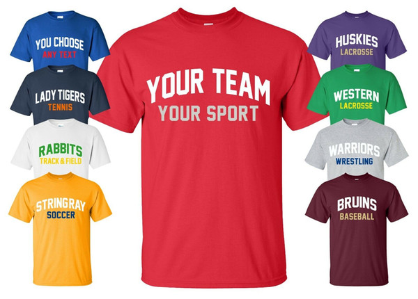 Custom Sports Jersey T-Shirt with YOUR TEAM NAME any text league practice parent Funny free shipping Unisex Tshirt