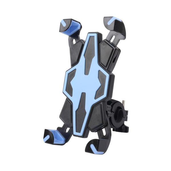 Mavi Spor Bisiklet Motosiklet Gidon Montaj Tutucu Cradle Braketi Çoğu Akıllı Telefonlar Için Destek Standı