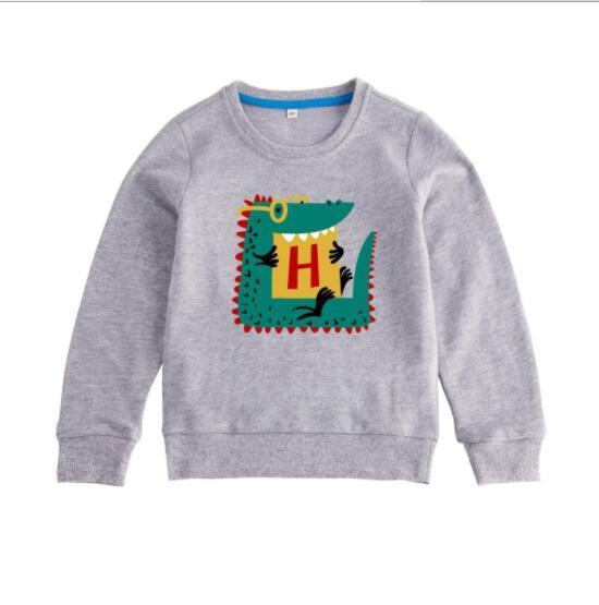 2019 dessin animé pur pull en coton pour enfants d'automne bébé dinosaure garçons et filles Pull à manches longues usine vente directe