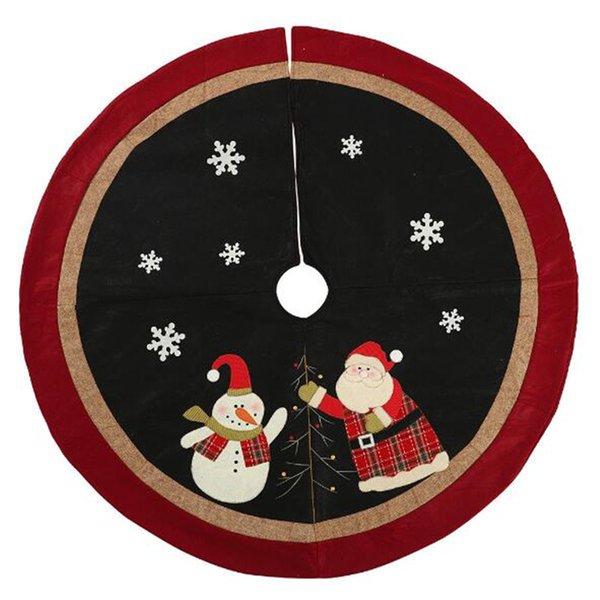 Free shipping New Christmas decorations tree skirt 120cm small tree dress bottom apron old man tree skirt
