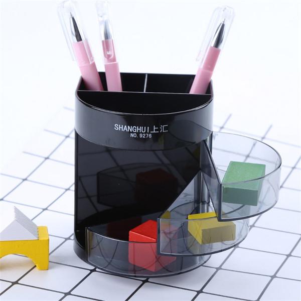 Três Grelhas Mesa Preta Organizador Desktop Gaveta Caixa De Armazenamento De Plástico Recipiente Caneta Moda Originalidade Multi Função ECO Amigável 4 4ycC1