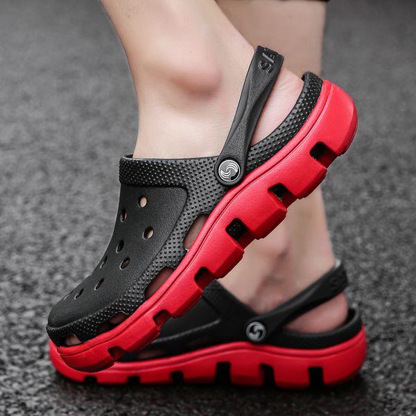 Men Causal Summer Sandals Causal Garden Crocus Clogs Soft Memory Foam Hospital Shoes Male Slip On Beach Big Size 39-47