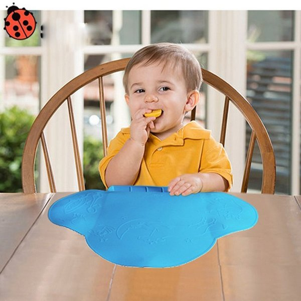 Baby Table Mat Waterproof Silicone Pad Mat Infant Tiny Diner Portable Placemat for Baby Feeding 4 colors