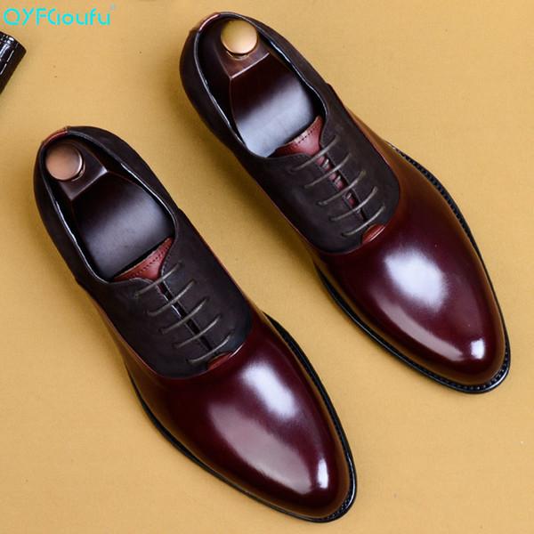 QYFCIOUFU 2019 Man Mode Chaussures formelles de haute qualité véritable personnalité en cuir hommes robe de mariage Oxford Business Chaussures 11,5 SH190926