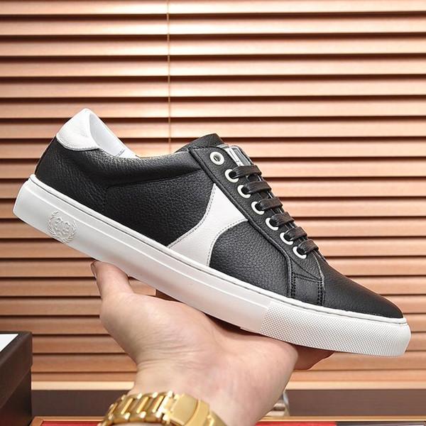 Verão novo italiano de alta qualidade baixa para ajudar a marca GG mens esportes sapatos de couro de viagem mens casual aptidão tênis com qe original