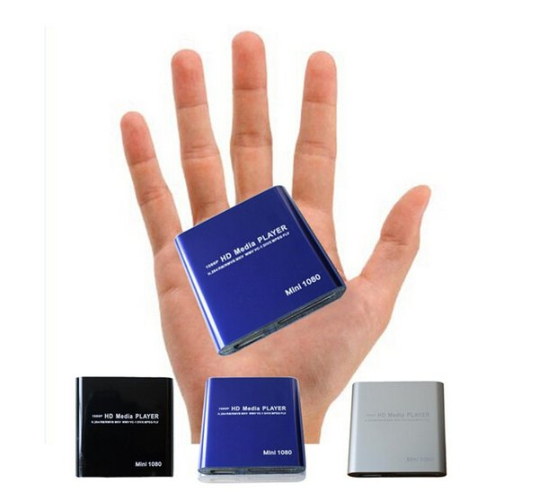 Hot Mini Full HD Media Player Support SD Cards USB Disk Media Box Support MKV H.264 RMVB WMV Mp3 Mp4 1080P Video Autoplay HDD Media Player