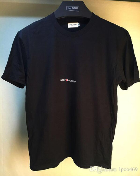 En çok satan 2019 marka yeni Yaz Sokak giyim Avrupa Paris Moda Erkekler Yüksek Kaliteli kafatası Pamuk Tişört Rahat erkekler Tee T-shirt 009