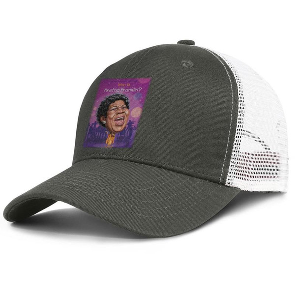 Fashion Mesh Trucker hats Men Women-R.I.P Music Queen Aretha-Franklin designer hat snapback Adjustable Bucket hat Outdoor