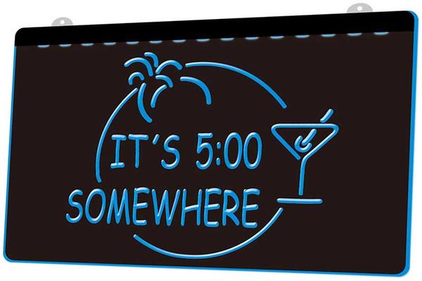 [LS0014] Ses 5,00 Quelque part Margarita Bar NOUVEAU LED Gravure 3D Lumière Personnaliser Inscrivez-vous à la demande 8 couleurs