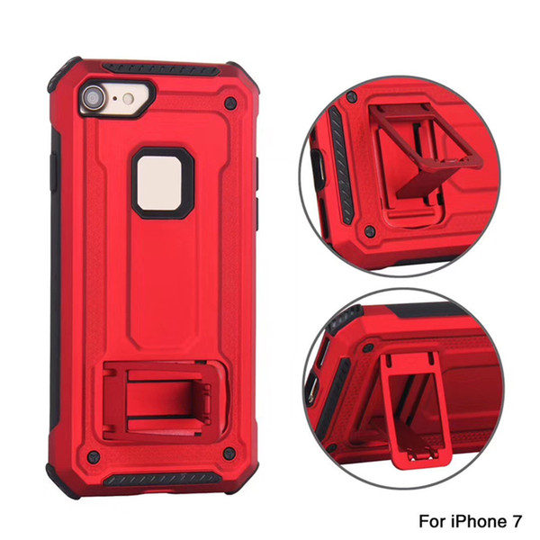 2 in 1 Rugged Phone Shell Heavy Duty Car Mount Shock Resistance Bracket Back Case Built-in Magnet for iPhone XS Max XR 7