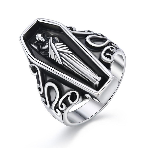 1 Pcs 18 Size Fashion Cool Stereoscopic Egyptian Mummy Ring Punk Ancient Silver Color Mummy Ring For Women Men Jewelry R193-T2-7