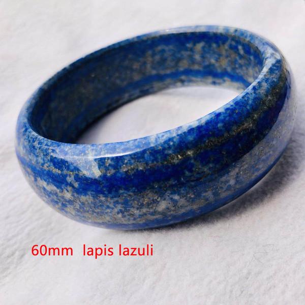 Natural Lapis Lazuli Gemstone Crystal Bangle Bracelet 60MM
