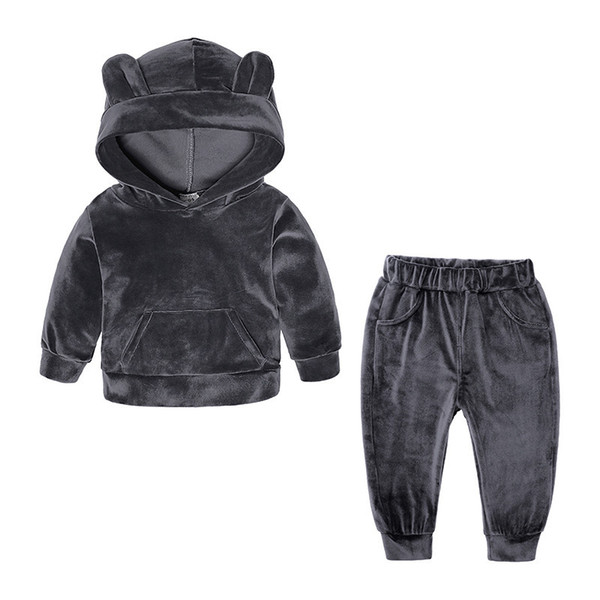Newborn Baby Girls Clothes 2018 Autumn Winter Baby Boys Clothes 2pcs Outfits Suit New Year Costume For Baby Sets Infant Clothing Y190515