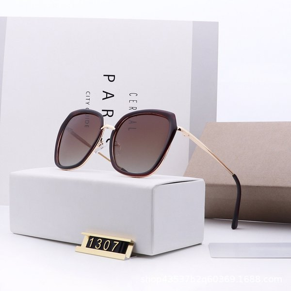 2019 new female polarized C brand sunglasses big box edging sun glasses fashion big box thin face tr90 1307 suneyewear
