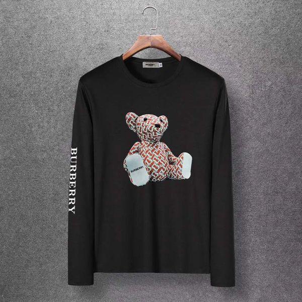 NUOVA maglietta di lusso da uomo moda uomo girocollo t-shirt manica lunga marca cotone top tees teschi stampa t-shirt manica lunga slim taglia M-6XL