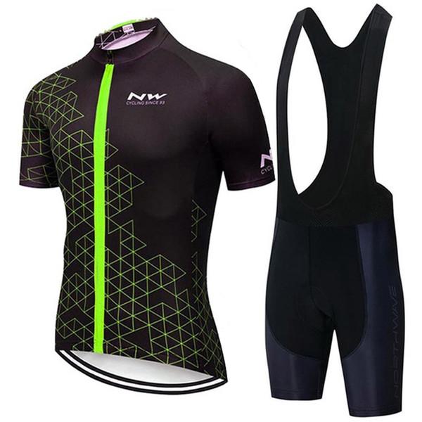 2019 NW Sommer Herren Kurzarm Radfahren Trikot Fahrradbekleidung Kleidung Lätzchen Set MTB Uniform Fahrradbekleidung Fahrradanzug