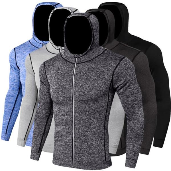 Acheter Manches Longues À Capuche Respirant Running Veste Homme Sport Manteau Fitness Gym Formation Soccer Manteau Mâle Jogging Sweat Shirts De $32.33