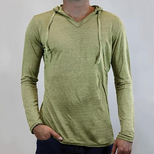Moda Erkek Kapüşonlular Erkekler Katı Renk Kapşonlu İnce Sweatshirt Erkek Hoodie Hip Hop Kapüşonlular Spor Eşofman sudadera hombre